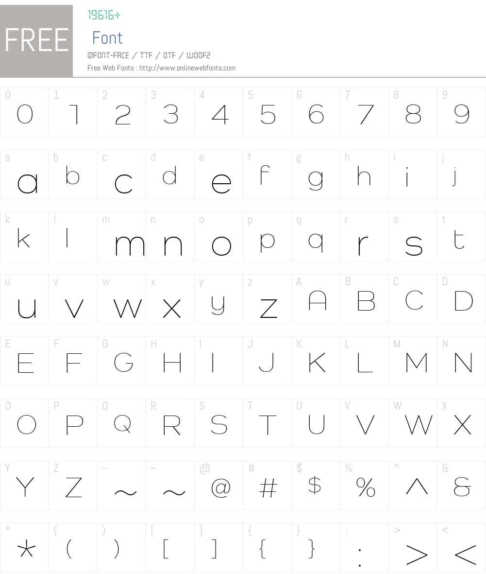 Como Font Screenshots