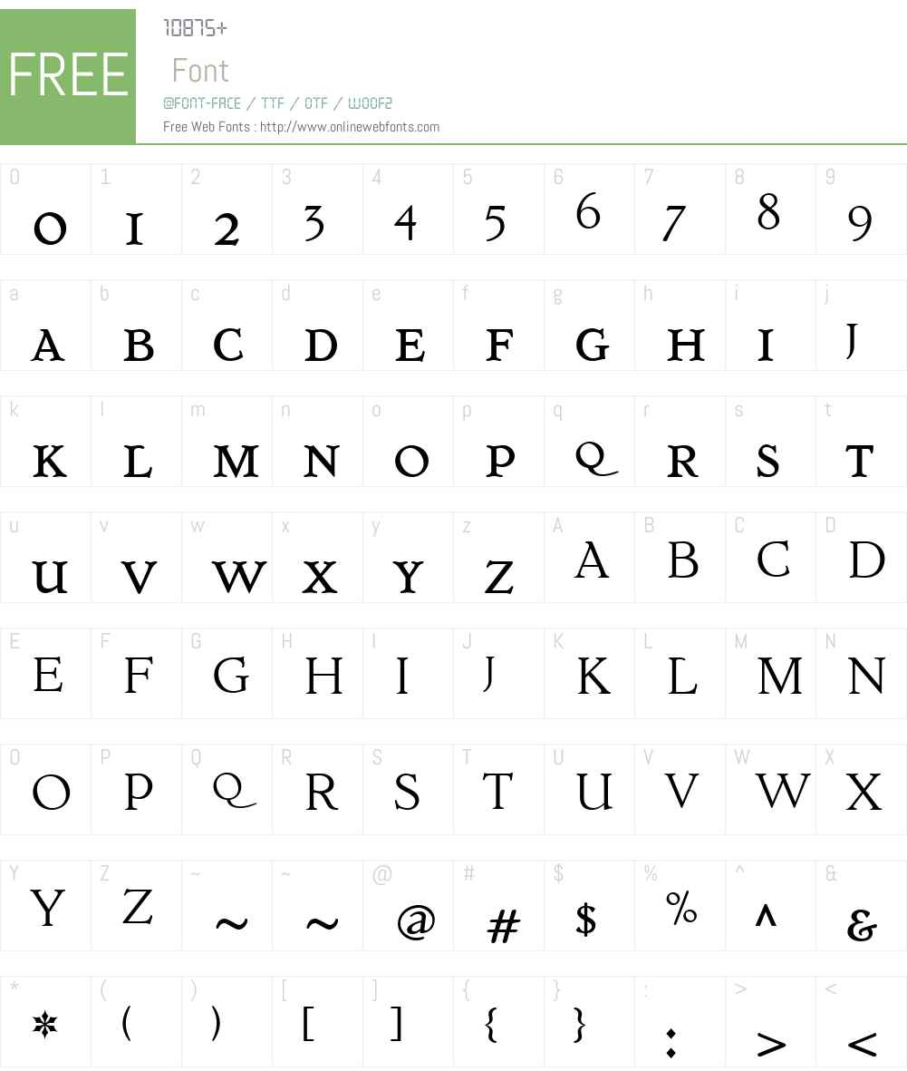 ZilvertypeSCW01-Regular Font Screenshots