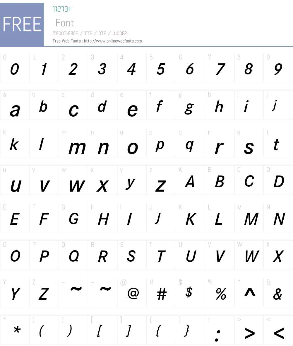 CorporateS Font Screenshots