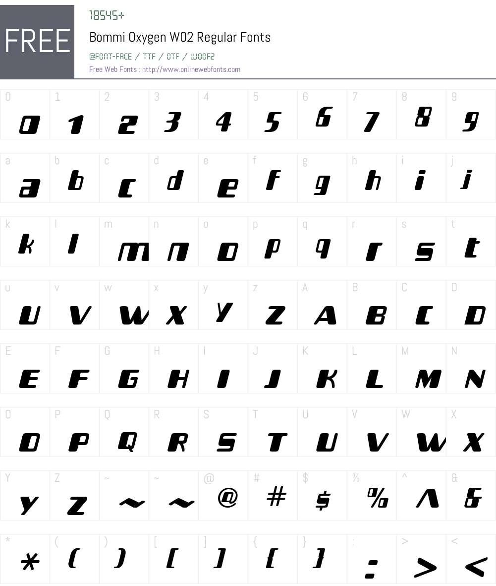Bommi Font Screenshots