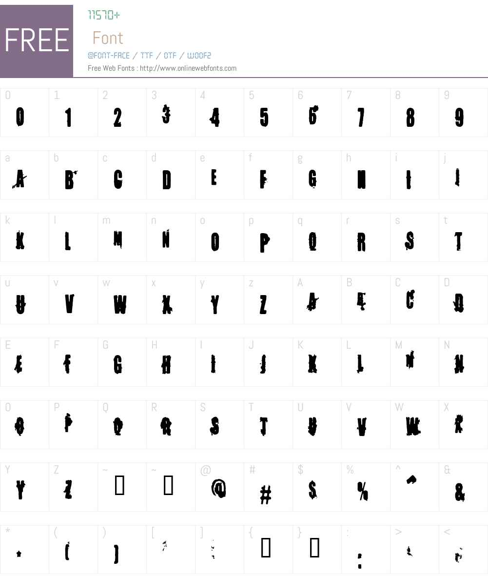 Memory Lapses Font Screenshots