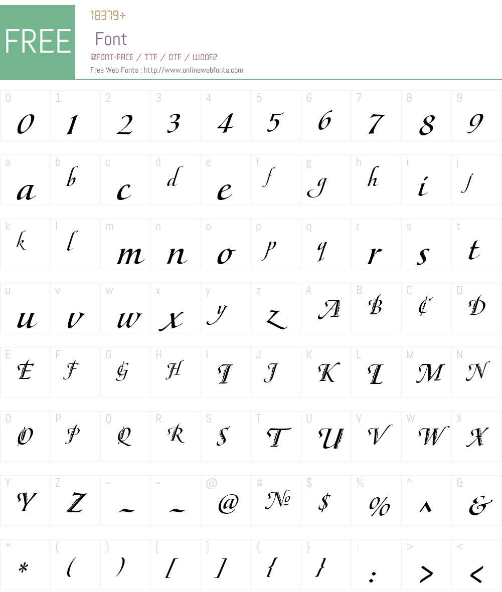 MaestroW01-HBold Font Screenshots