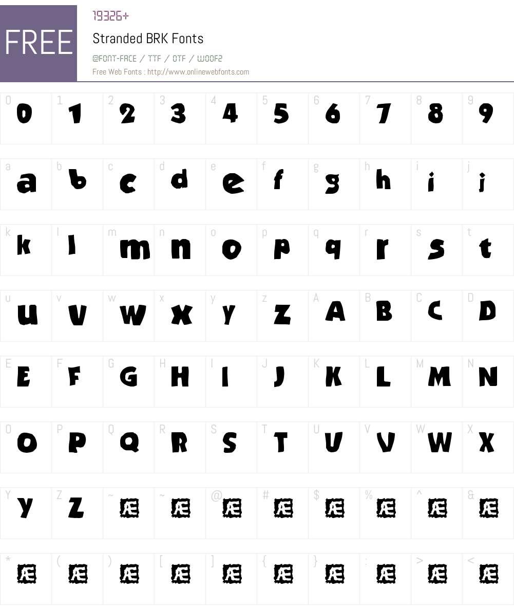 Stranded BRK Font Screenshots