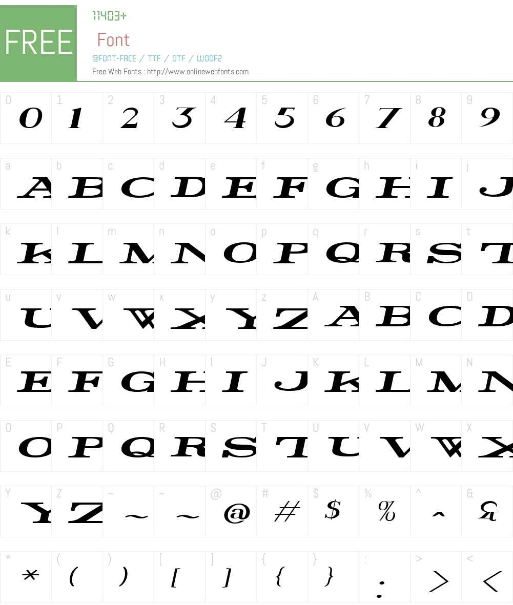 Rider Widest Font Screenshots