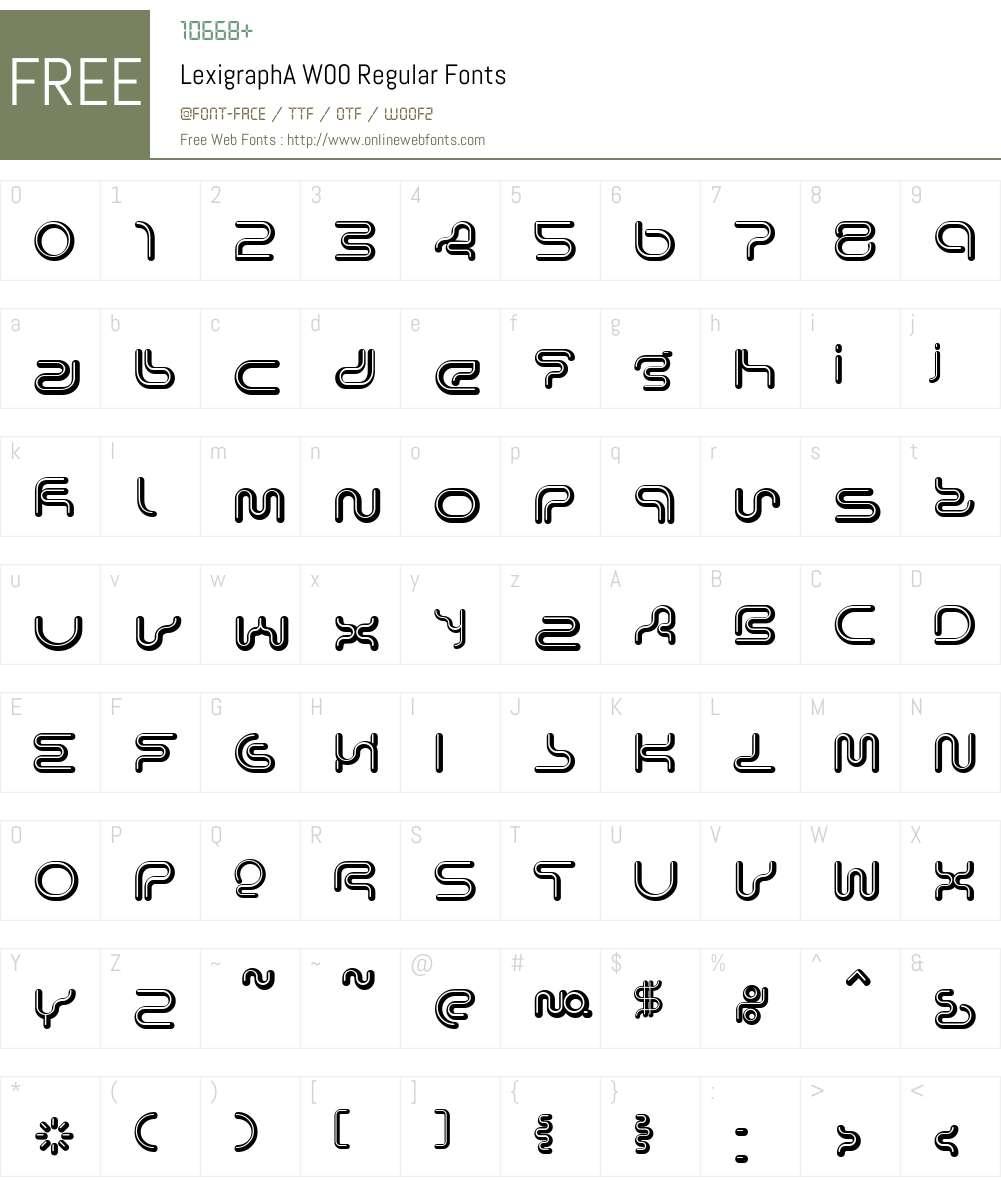 Lexigraph Font Screenshots