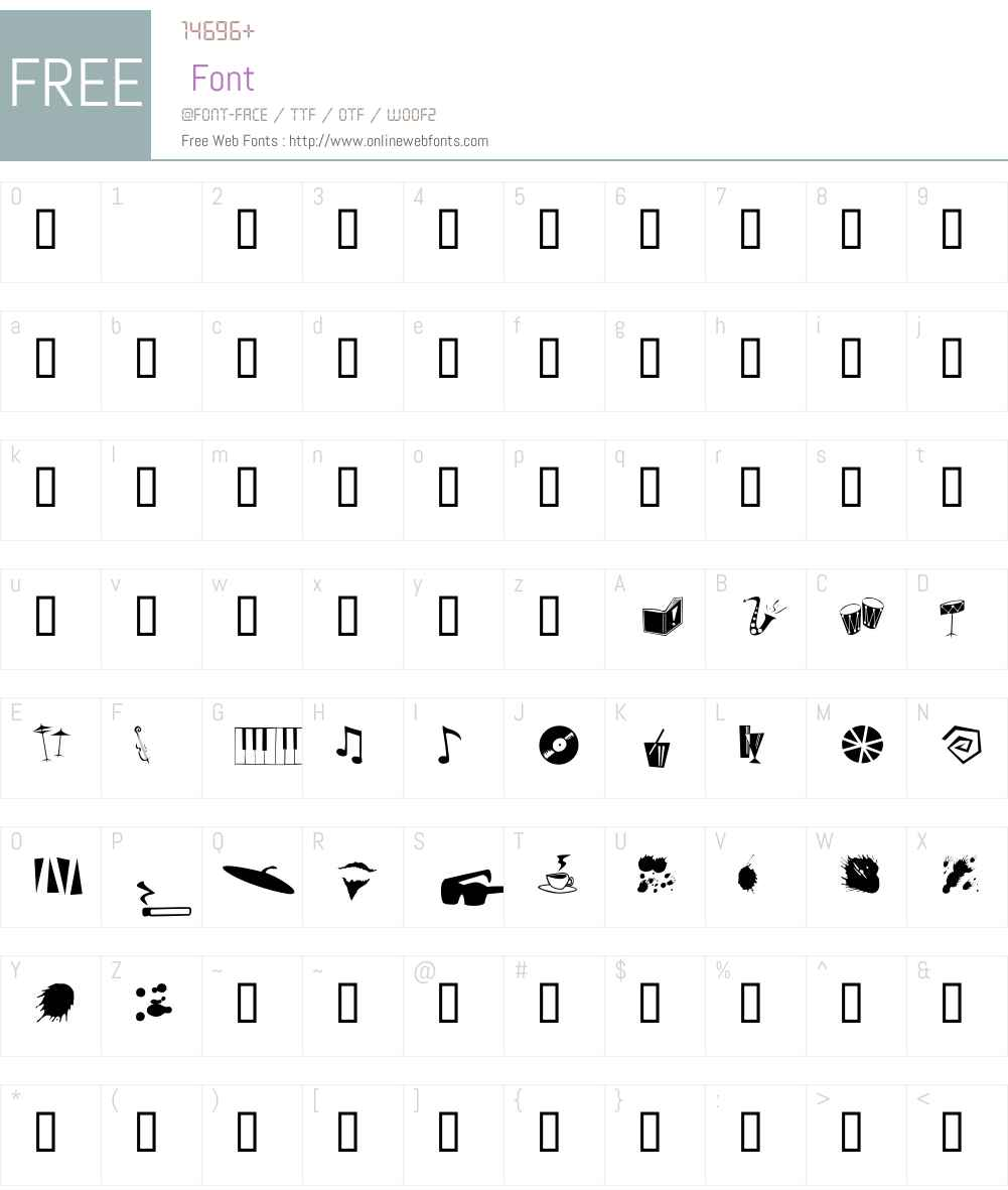 DaddyO Font Screenshots