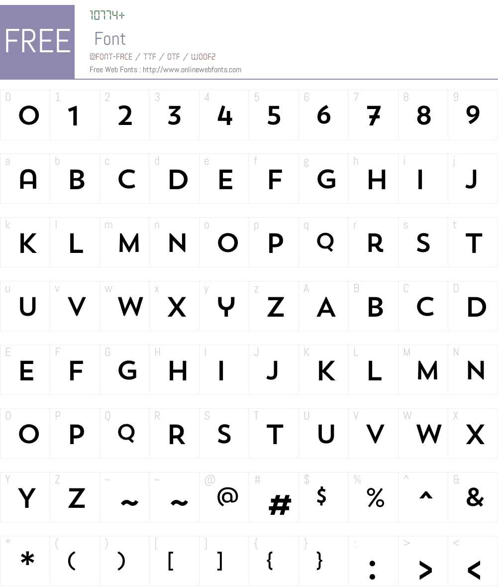 TrendSansW00-One Font Screenshots