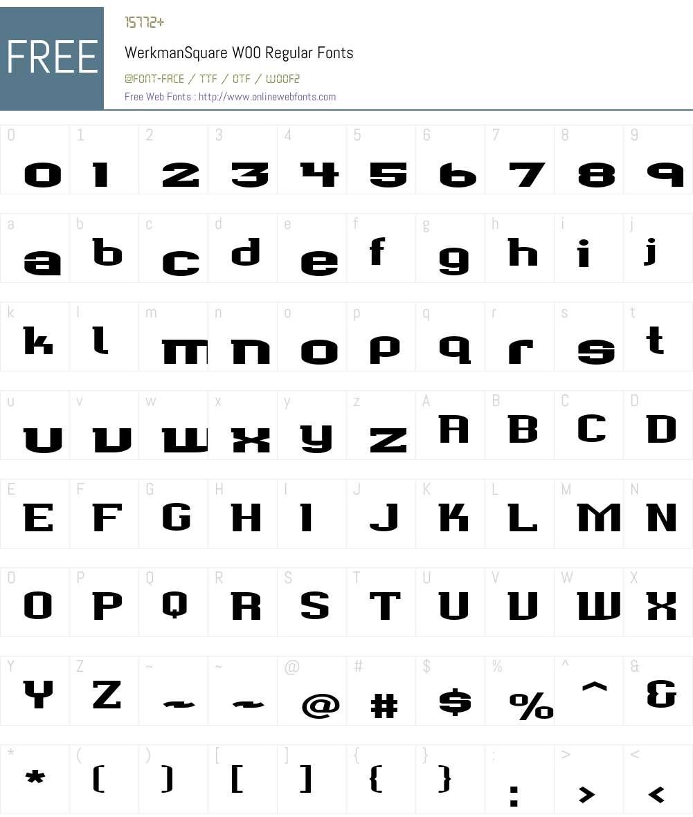 Werkman Font Screenshots