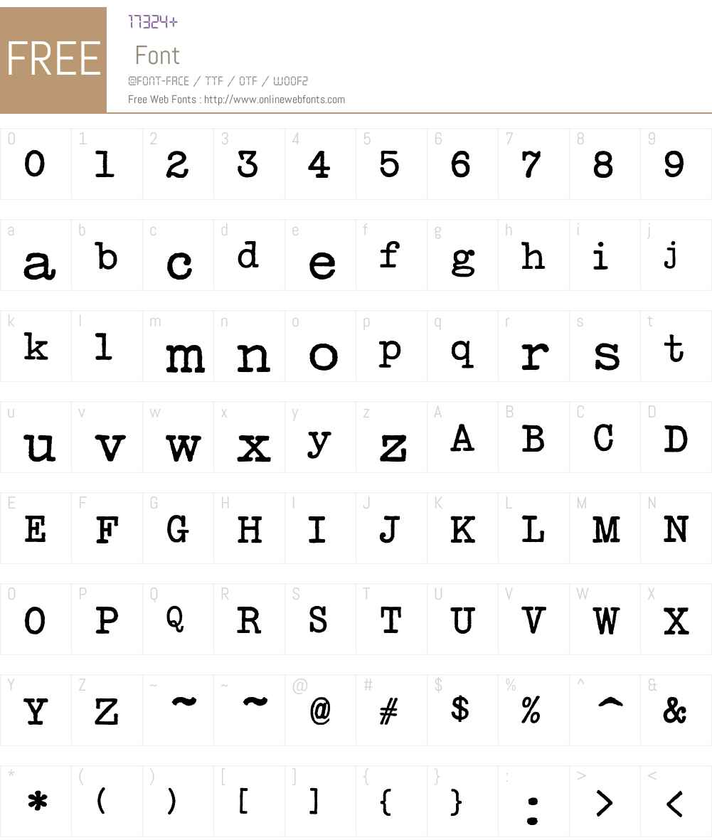 Typewriter Font Screenshots