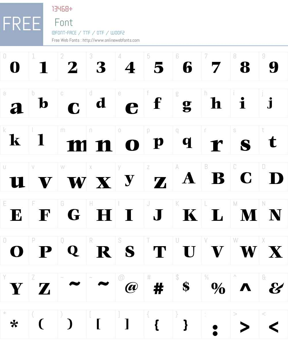 VeljovicEF Font Screenshots