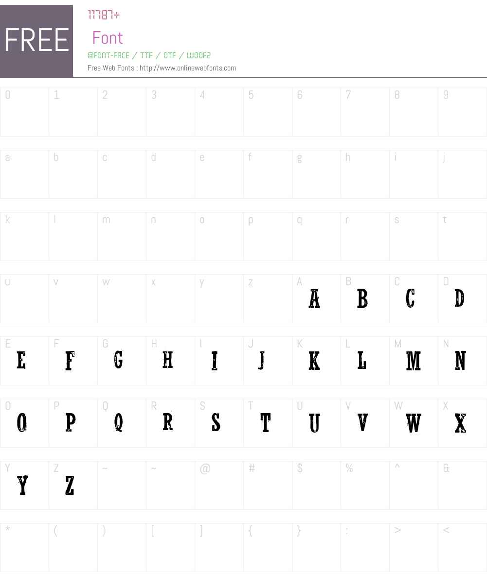 WolfredNelson Font Screenshots