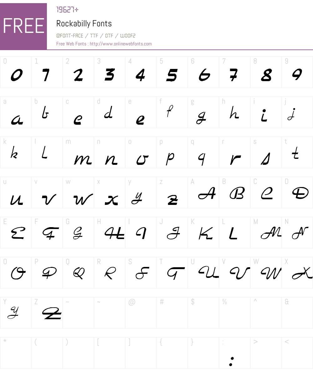 Rockabilly Font Screenshots