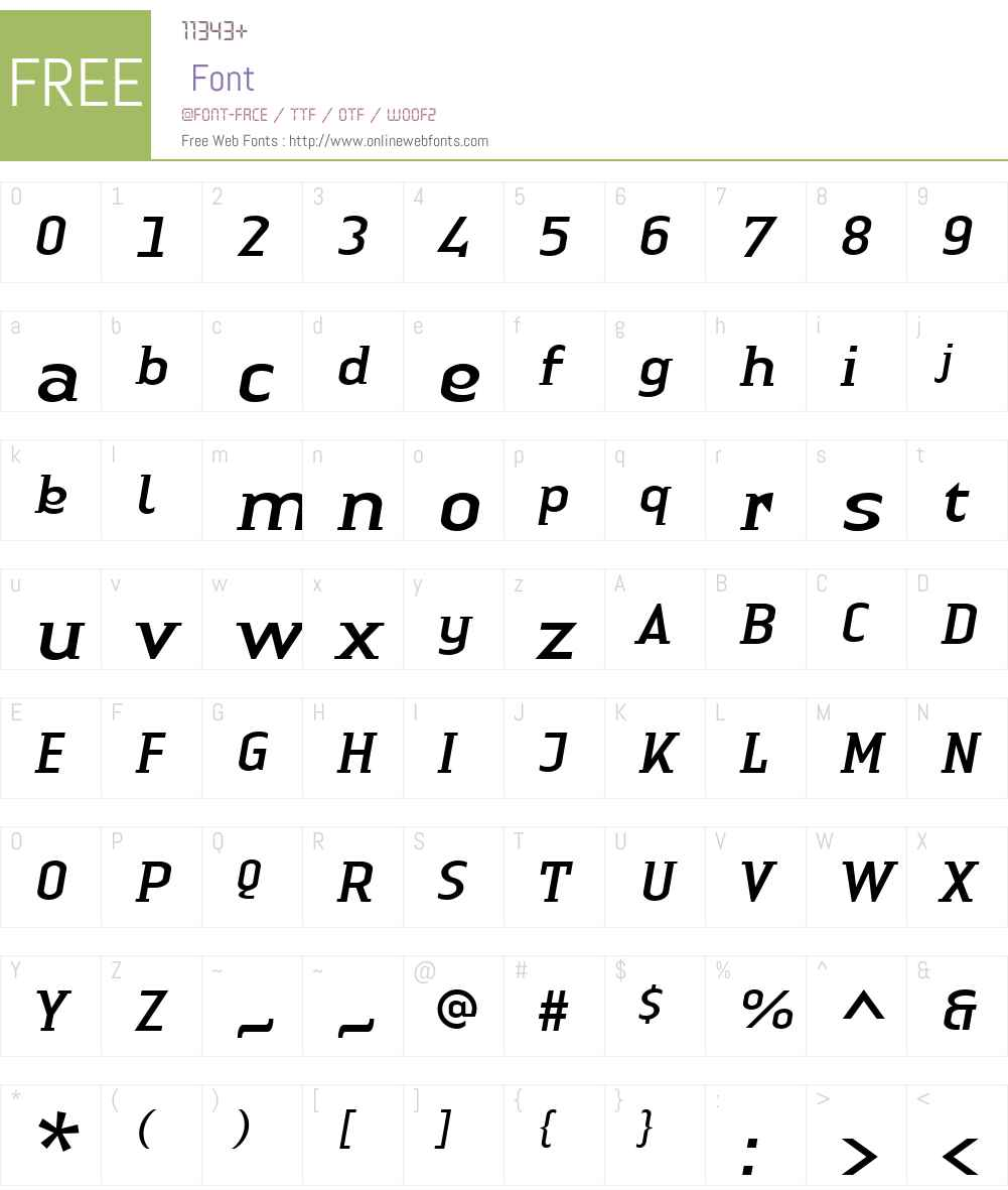 LTAuthenticSmallSerifW01-It Font Screenshots
