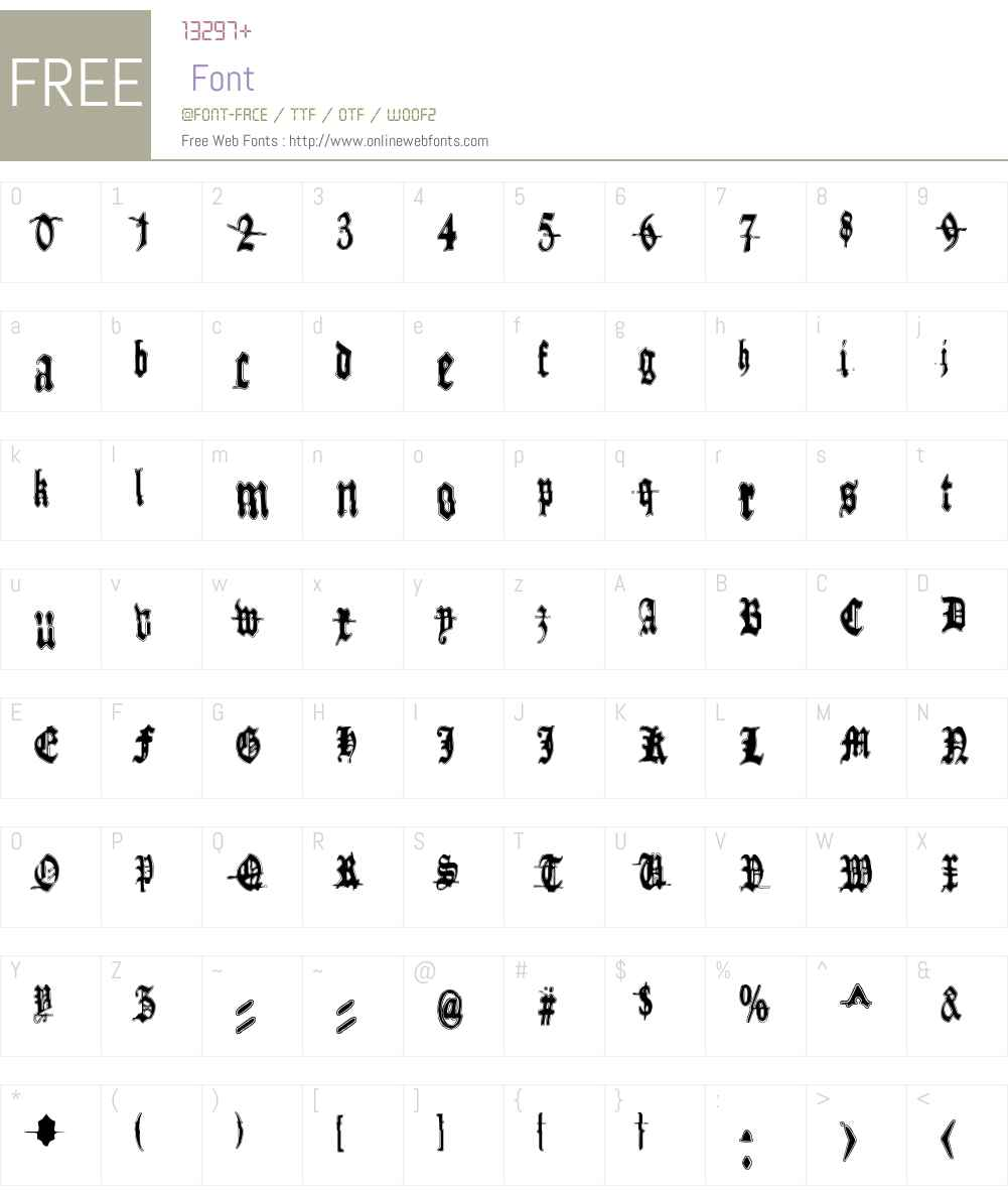 Metamorphose Requiem Font Screenshots