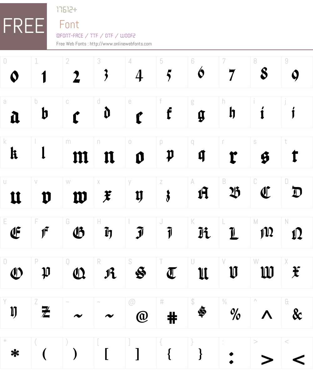 Hand Textur Font Screenshots