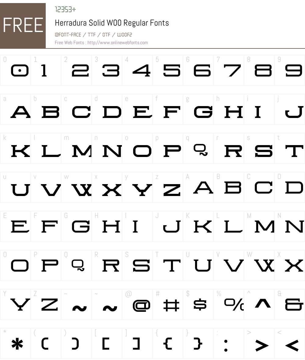 HerraduraSolidW00-Regular Font Screenshots