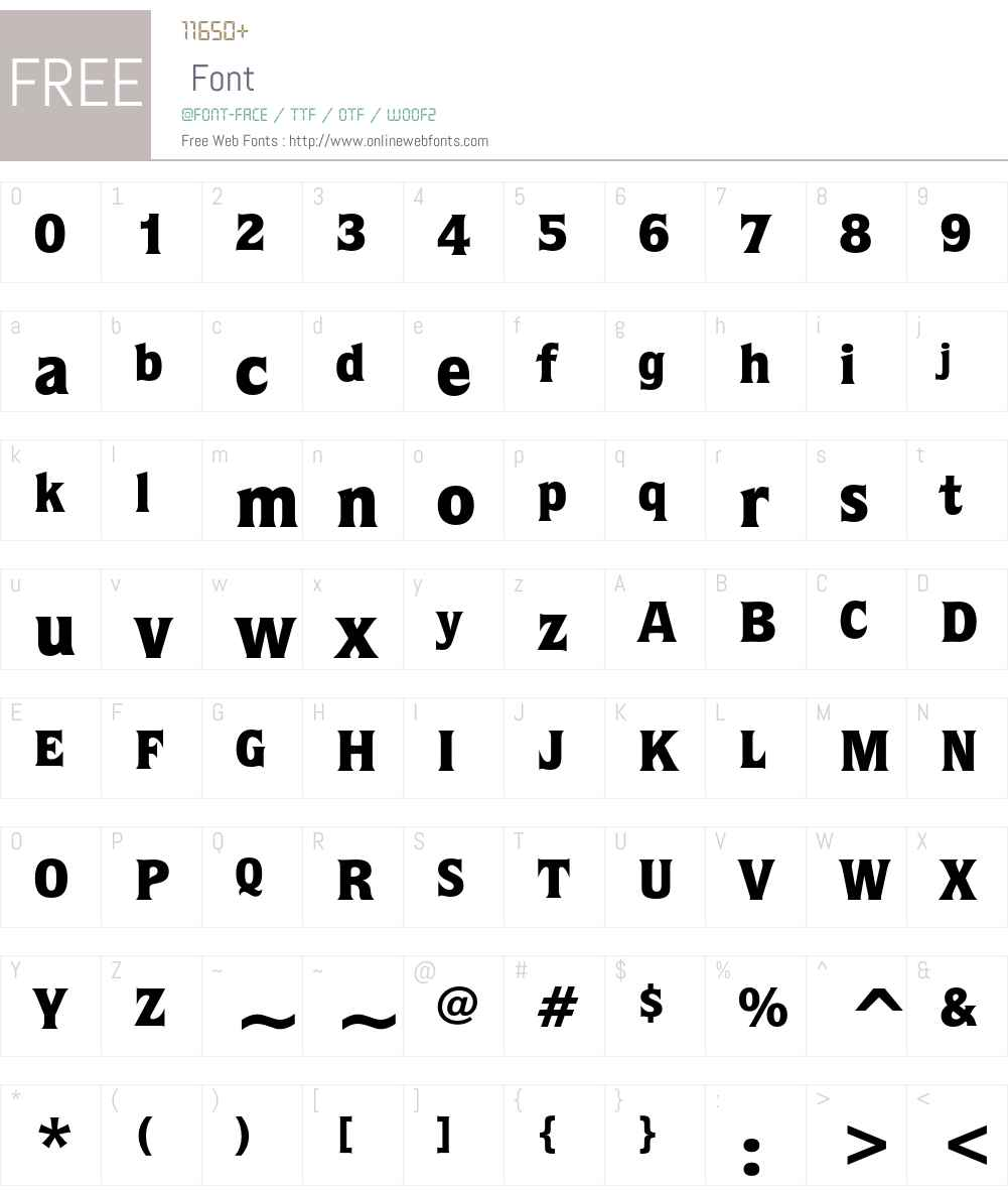 ITC Quorum Font Screenshots