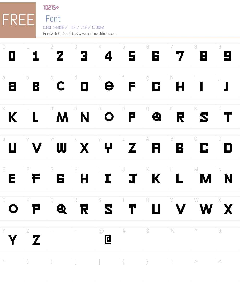 LECO 2014 Font Screenshots