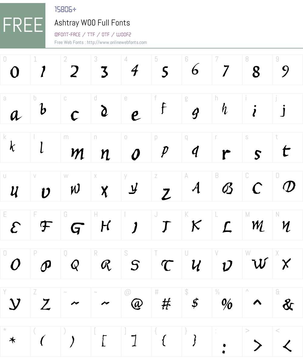 AshtrayW00-Full Font Screenshots