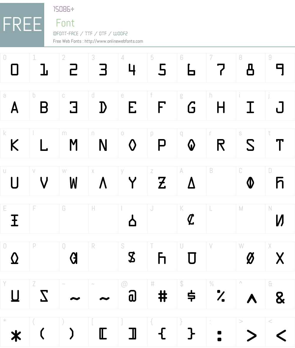 Data Control Unifon Font Screenshots
