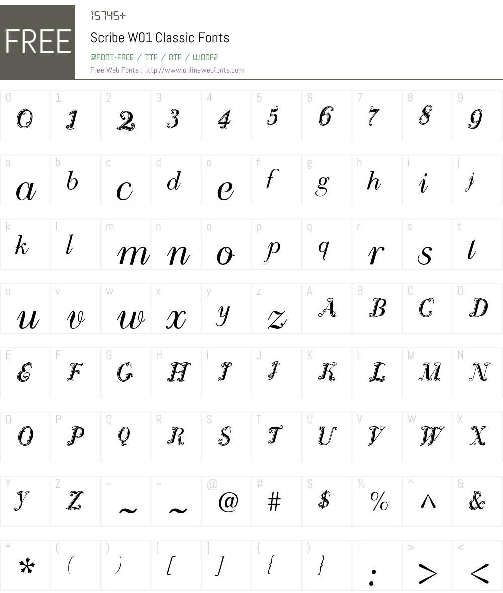 ScribeW01-Classic Font Screenshots