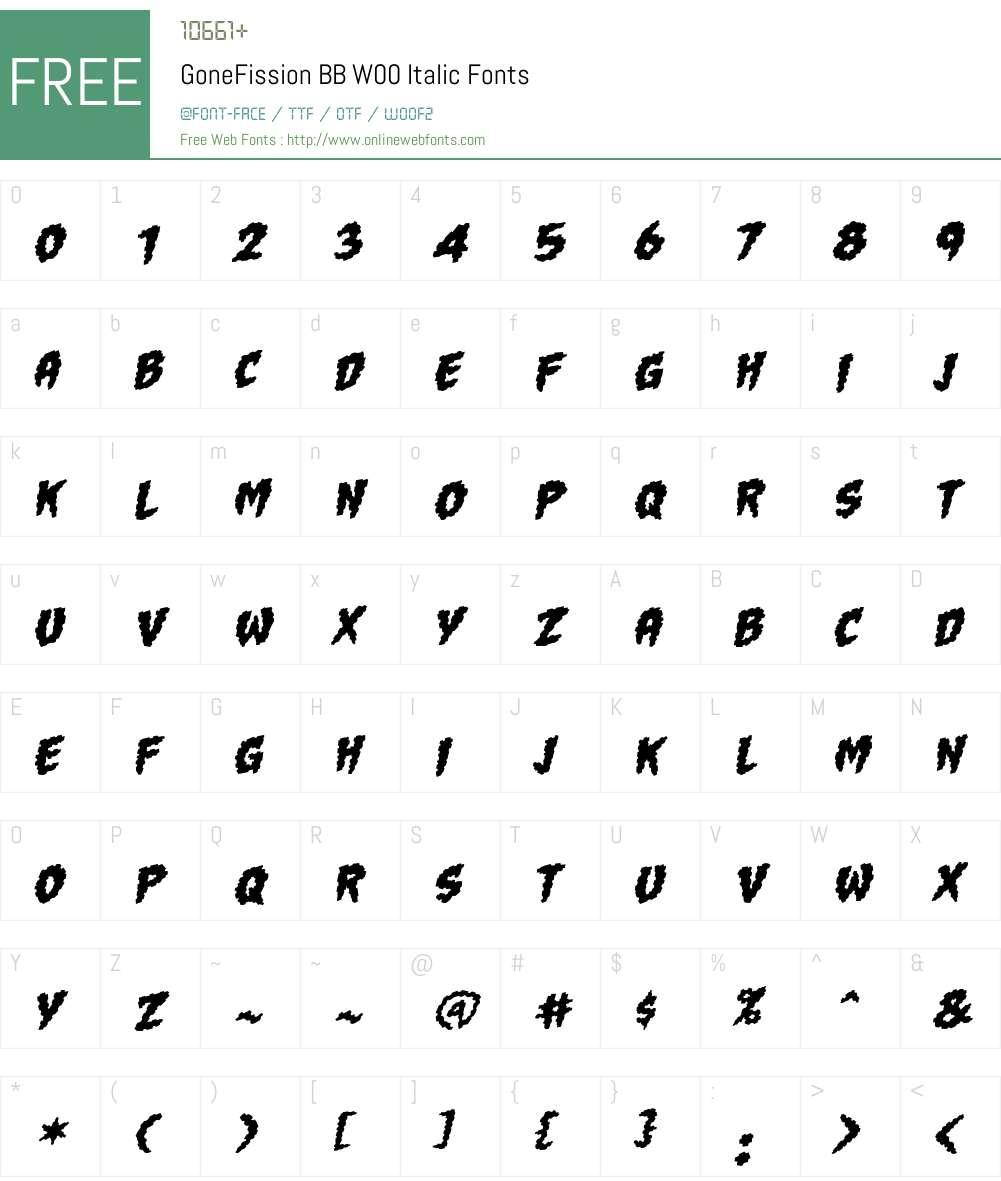 GoneFissionBBW00-Italic Font Screenshots