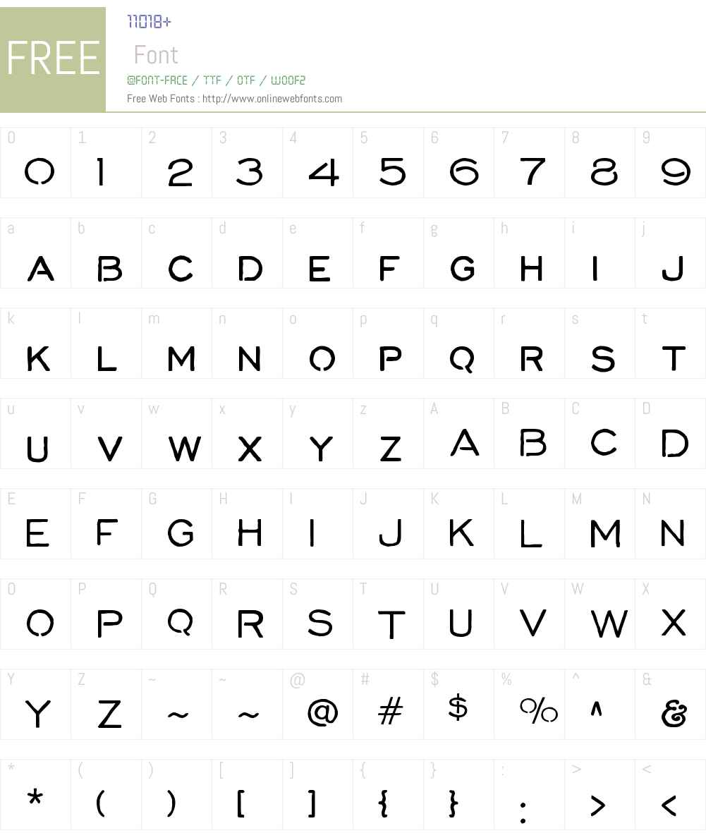 CorinthW01-Regular Font Screenshots