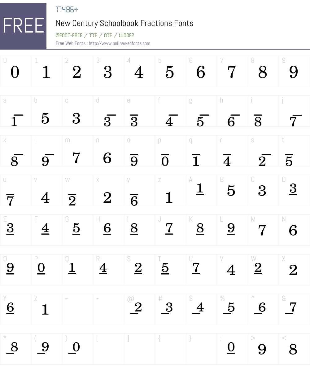 New Century Schoolbook Font Screenshots