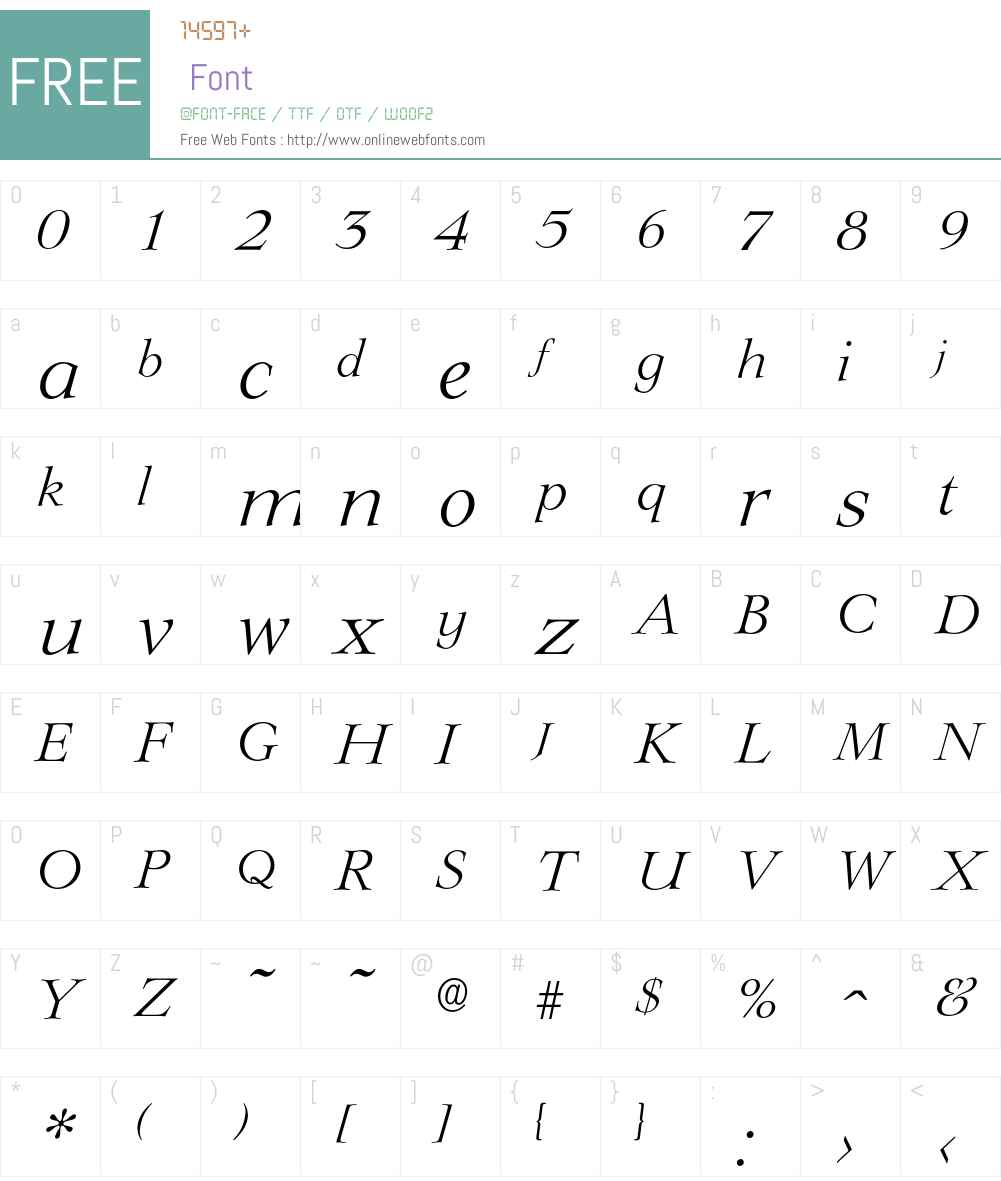 Lingwood-LightIta Font Screenshots