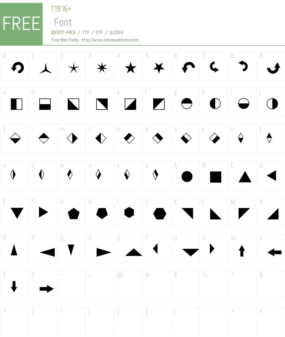 Blickfang Font Screenshots