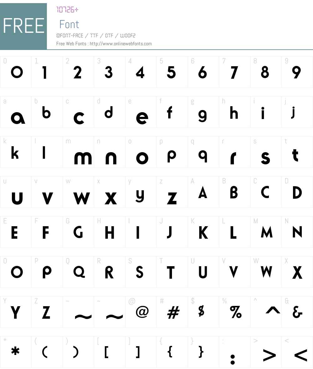 ITC Ronda Font Screenshots