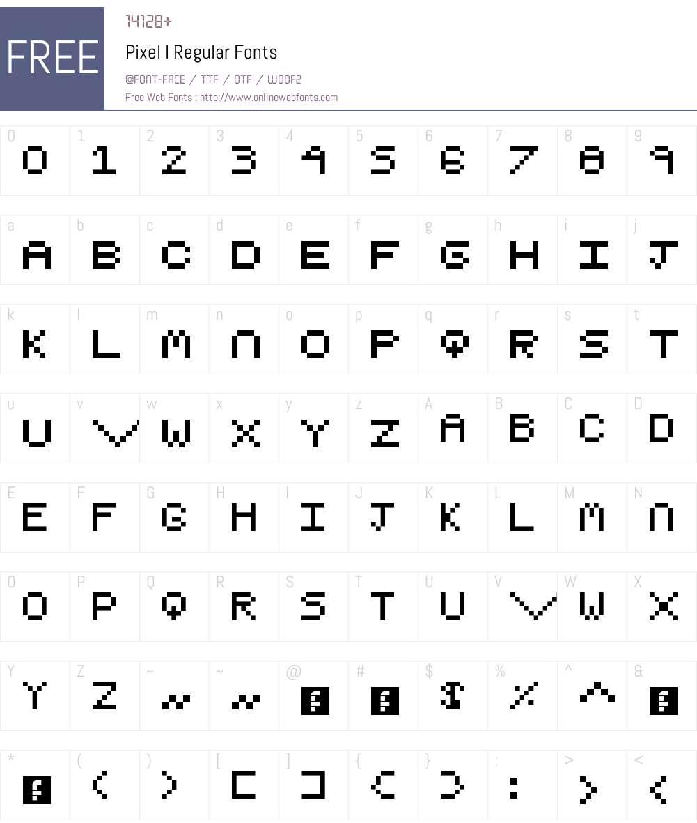 Pixel I Font Screenshots