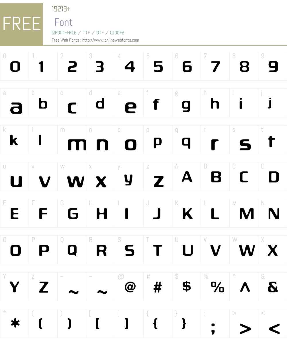 BiortecRegular Font Screenshots