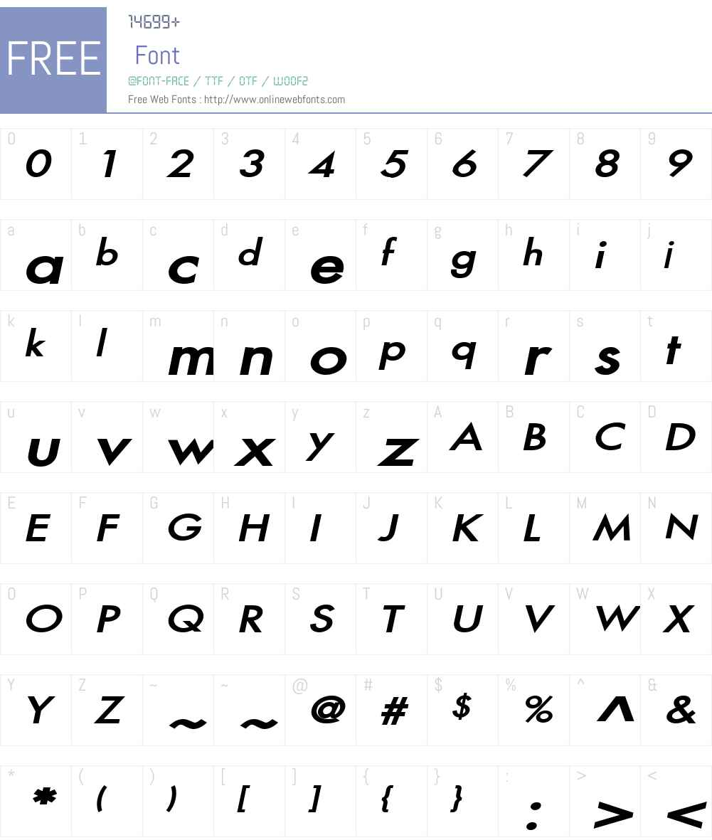 Fusi Wide Font Screenshots