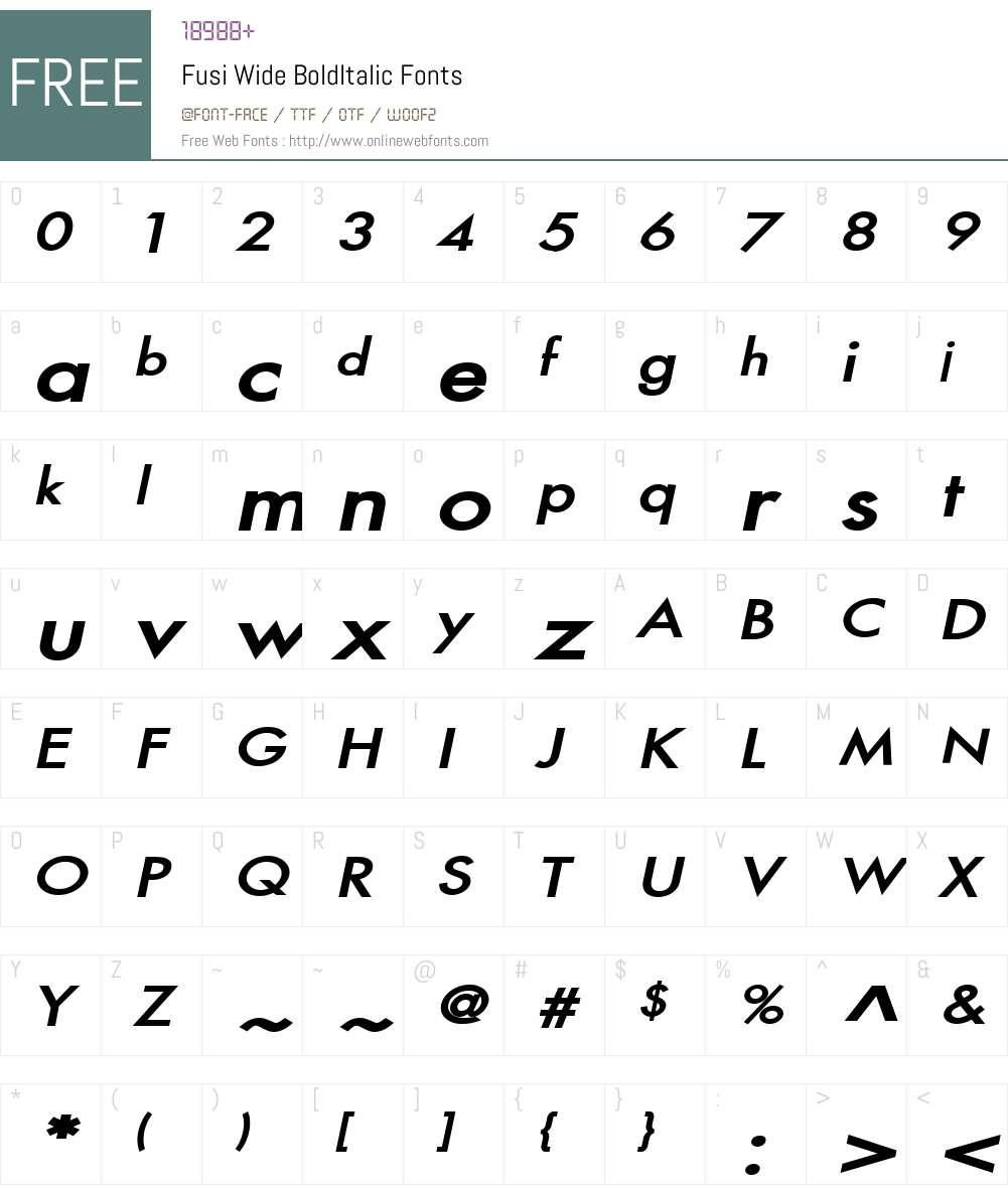 Fusi Wide Font Screenshots