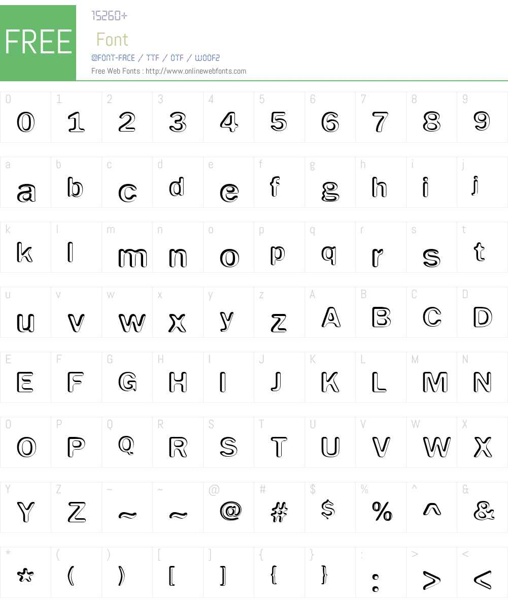 Impressed Metal Font Screenshots