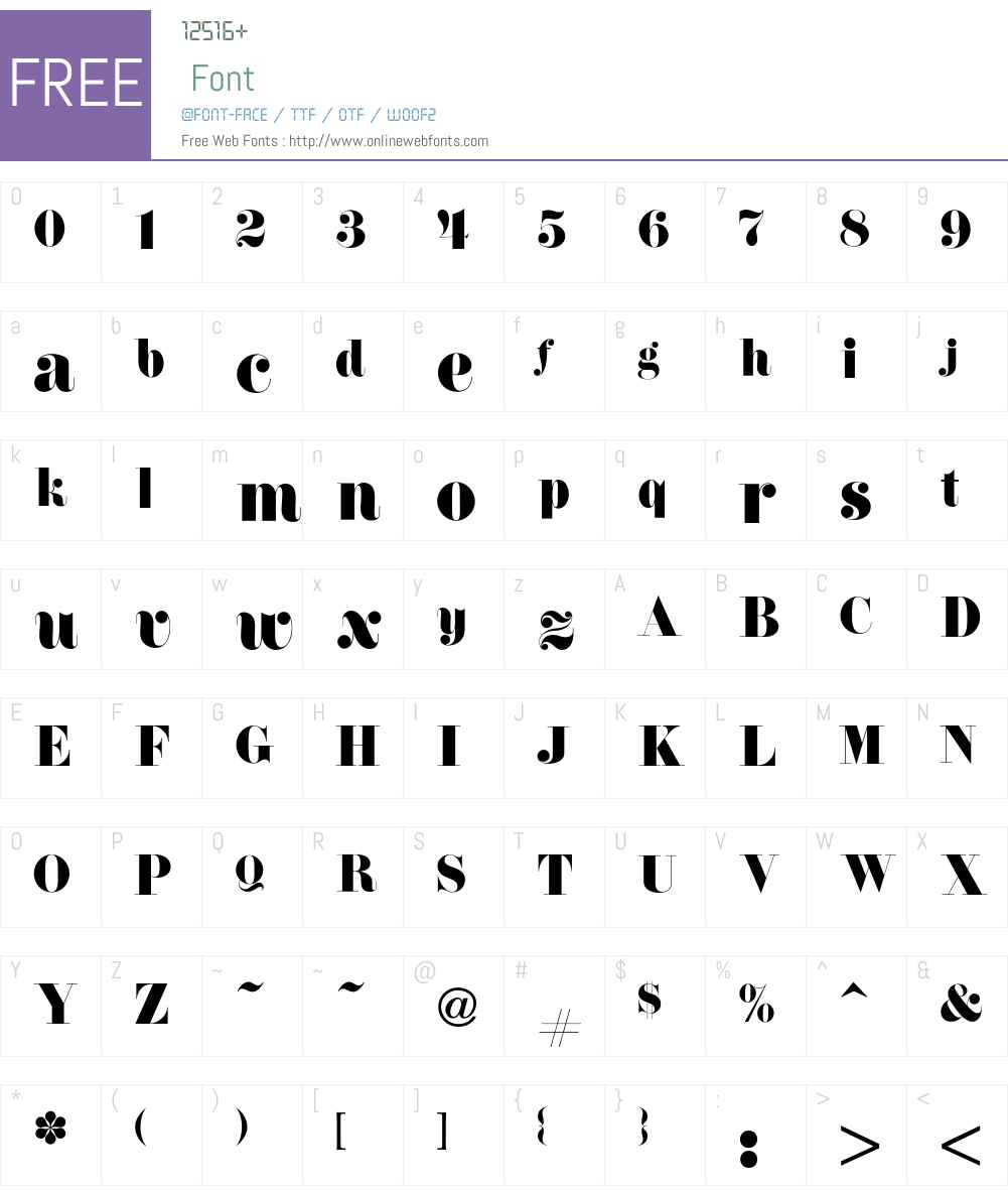Firenze Font Screenshots