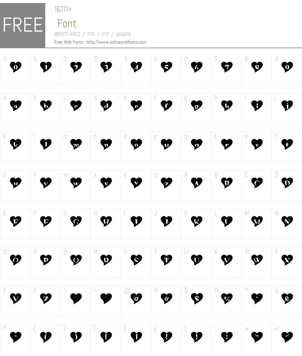 mashy Valentine Font Screenshots