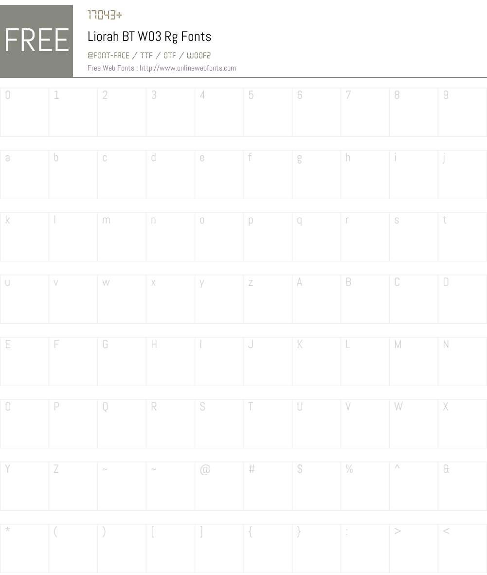 Liorah BT Font Screenshots