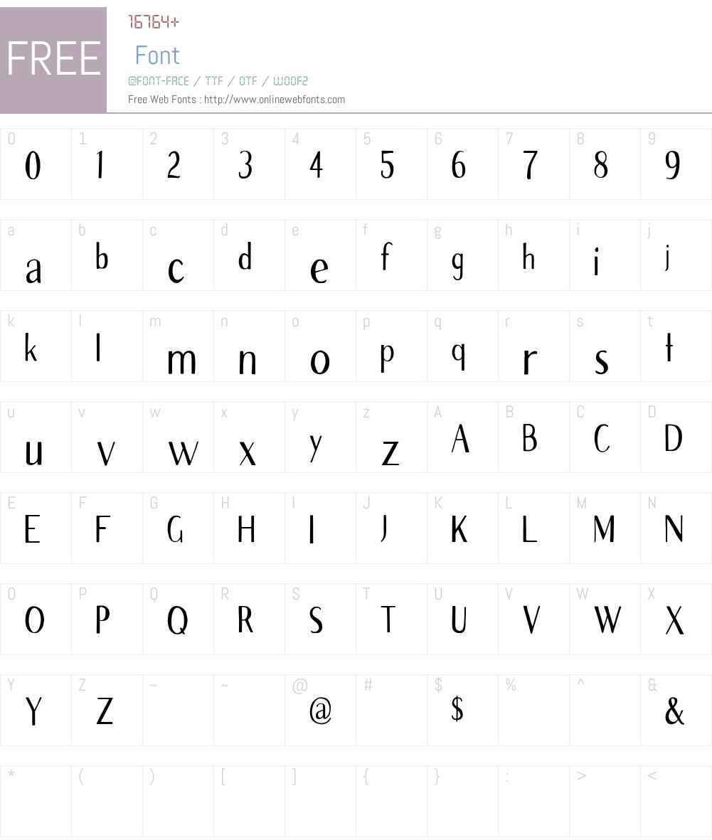 Avera Sans Cn Font Screenshots