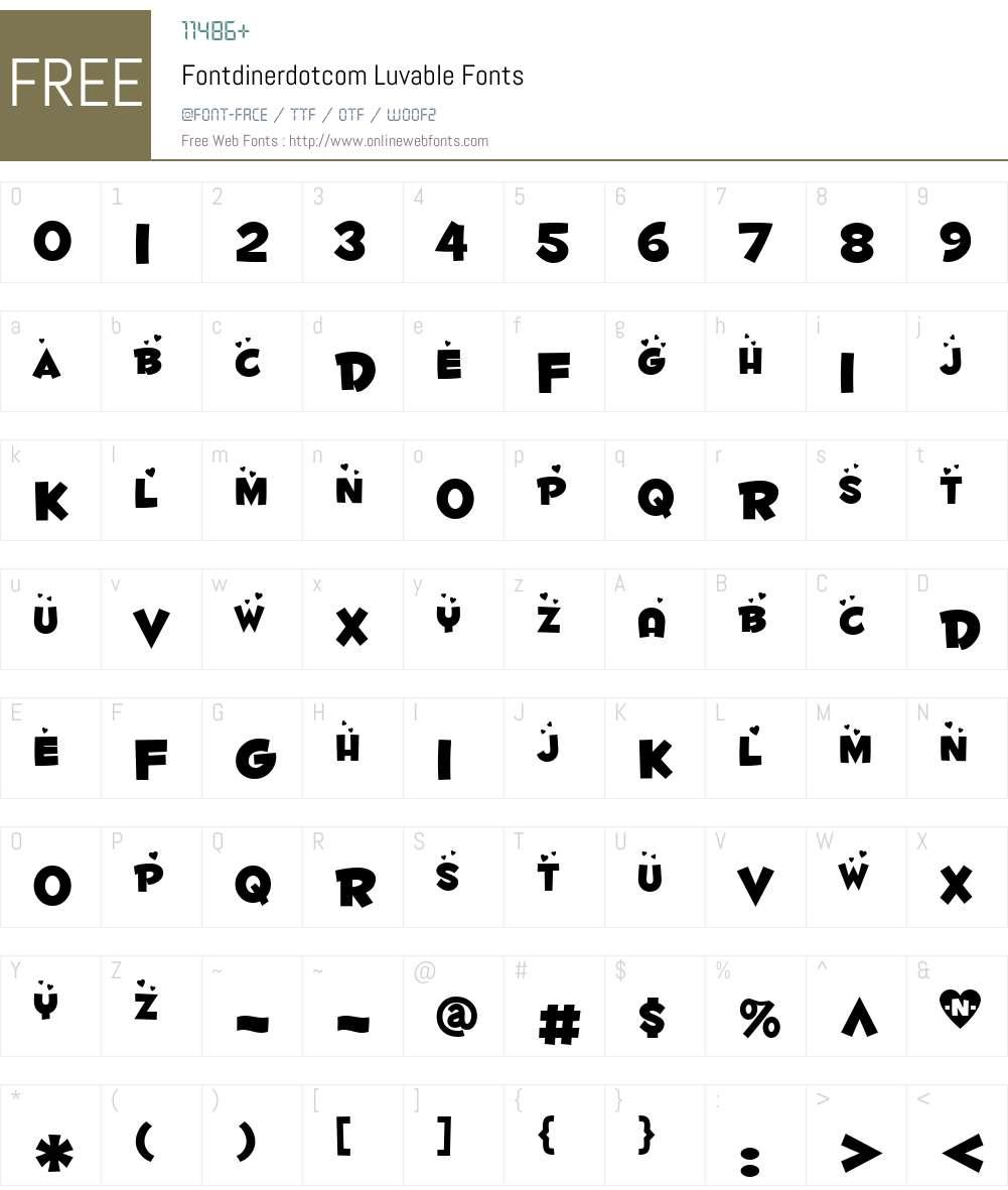 Fontdinerdotcom Luvable Font Screenshots