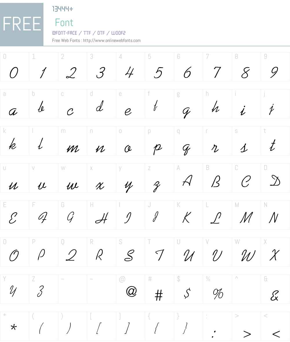 Sunnysid-Thin Font Screenshots