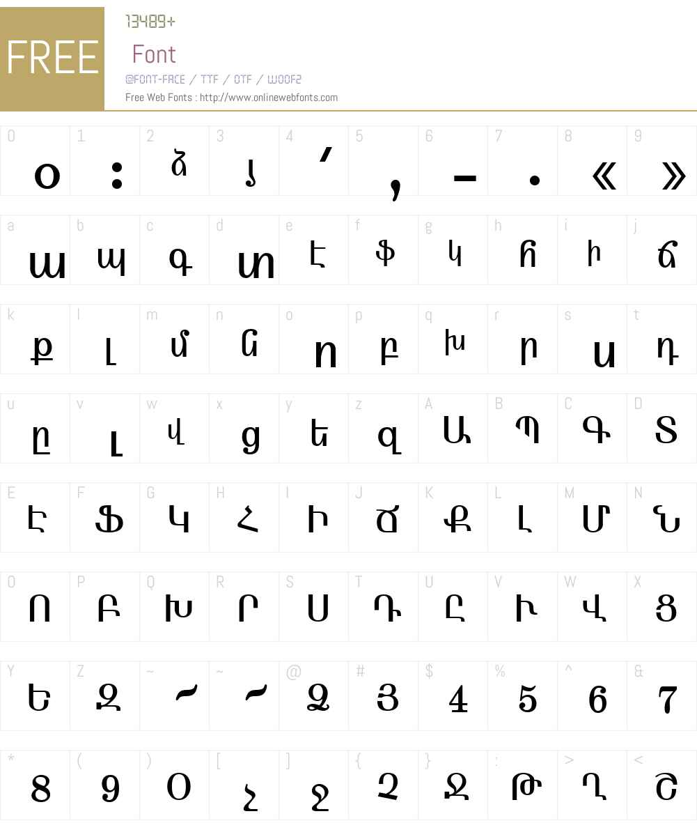 ArmFixed Font Screenshots
