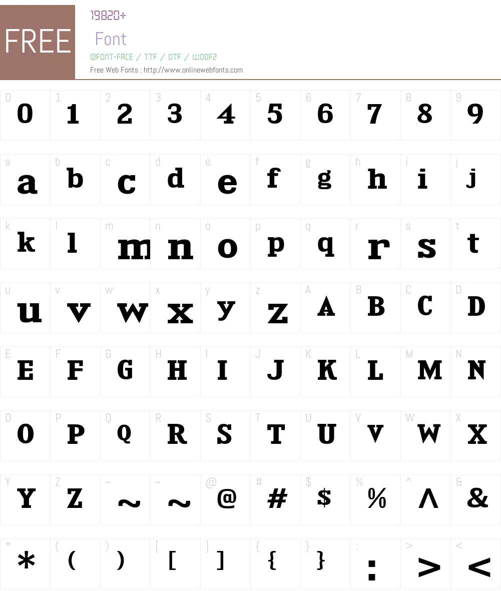 Kingsbridge Font Screenshots