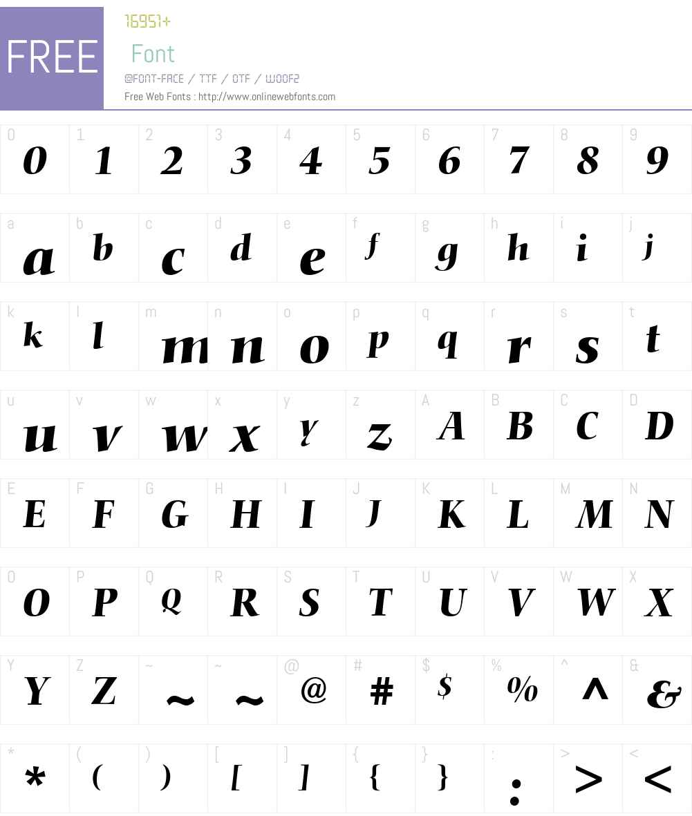 Conquista SSi Font Screenshots