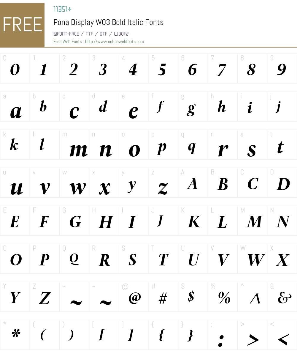 Pona Display Font Screenshots