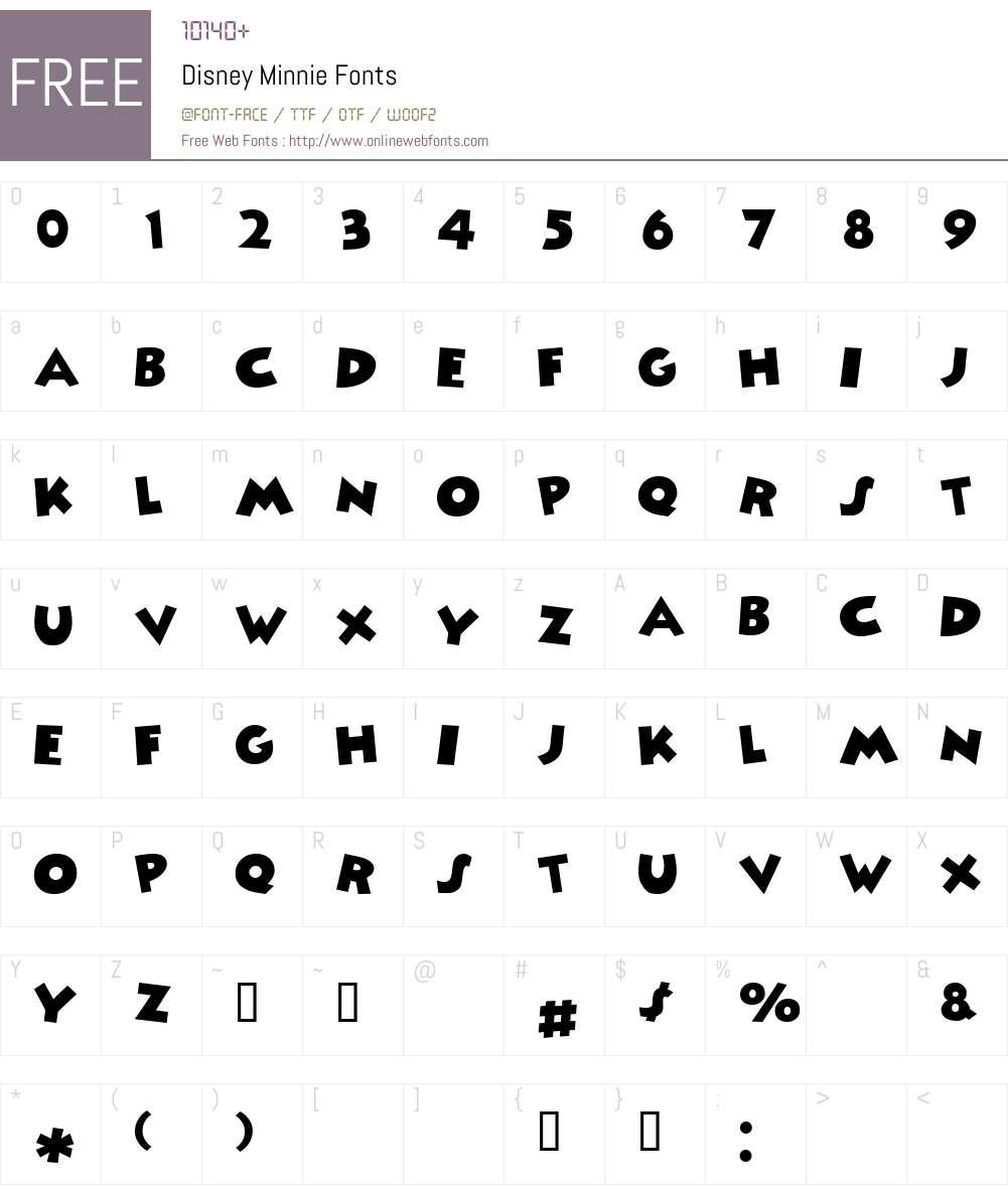 Disney Minnie Font Screenshots