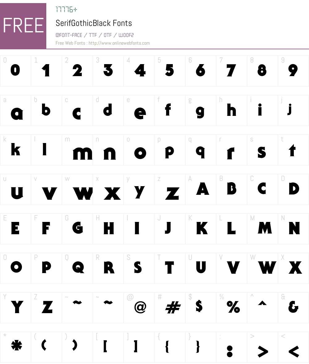 Serif Font Screenshots