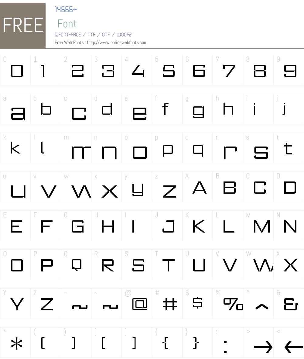 RegisterWideW00-Light Font Screenshots