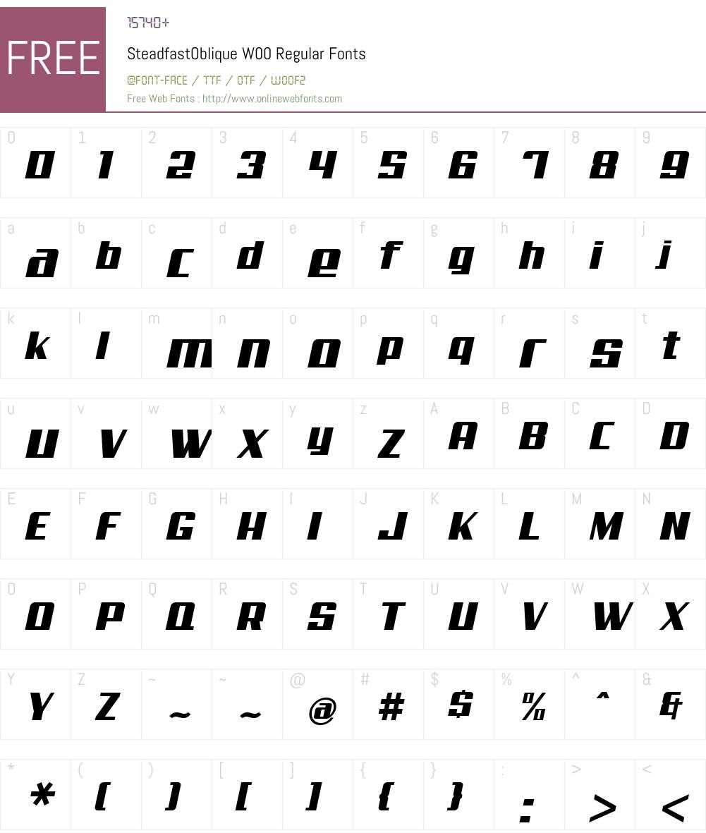Steadfast Font Screenshots